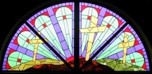 3 cross glass