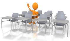 Student raised hand